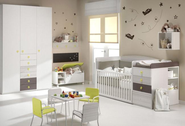 Habitaciones infantiles c mo combinar los colores - Habitaciones para bebe ...