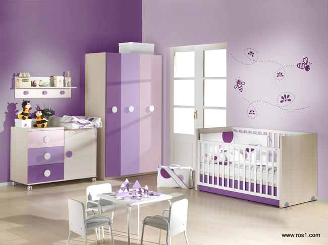 Cómo combinar colores habitaciones bebés