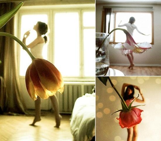 falda de flor