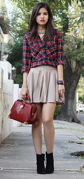 Cómo combinar una camisa de cuadros para chica - Inspiración de moda - Blog de moda - Camisa de cuadros femenina