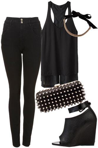 como_combinar,ropa,negra