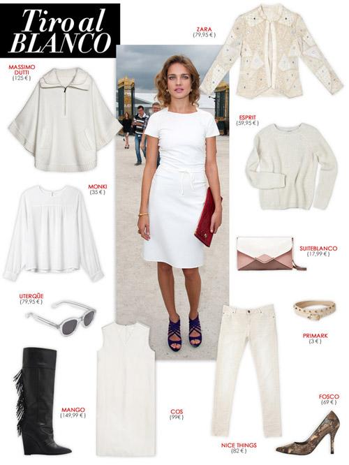 Cómo combinar un look 100% blanco - Combinar color blanco - Looks para el verano