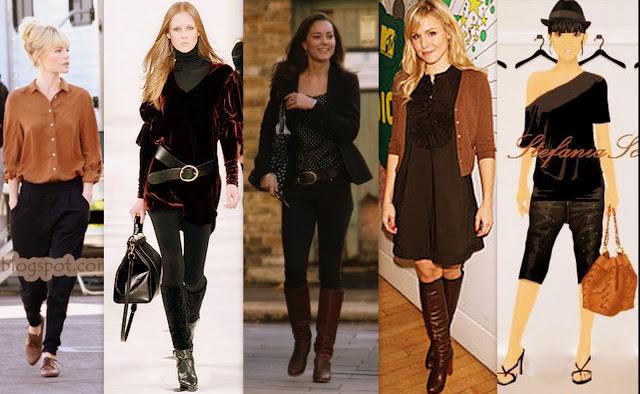 como combinar colores de ropa negro y marrón