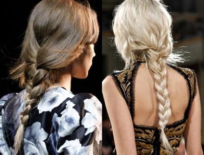 Cómo combinar trenzas: el look moda de la primavera 2013