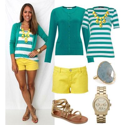 Cómo combinar ropa amarilla con colores