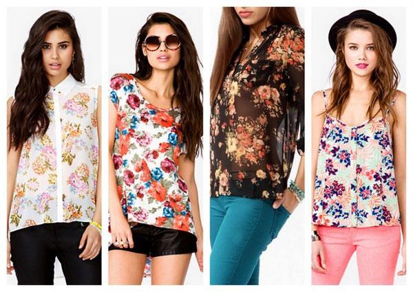 Cómo combinar ropa estampada - Camisa floral