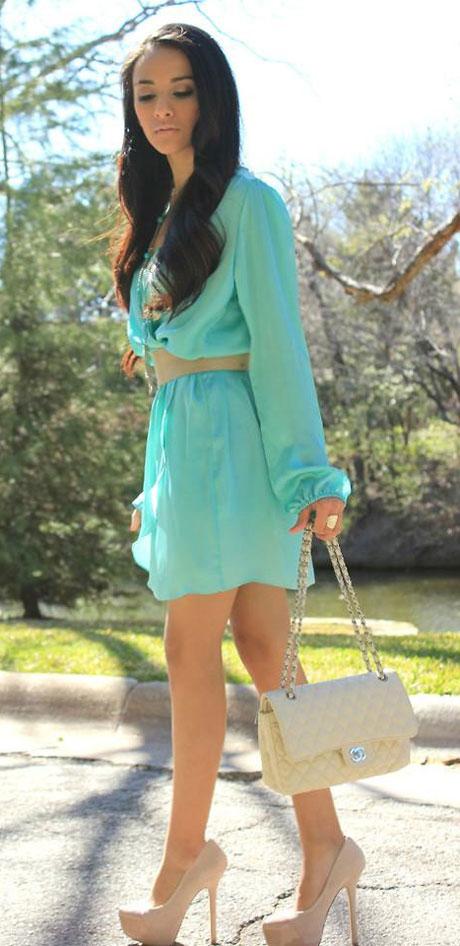 Que zapatos usar con un vestido verde agua