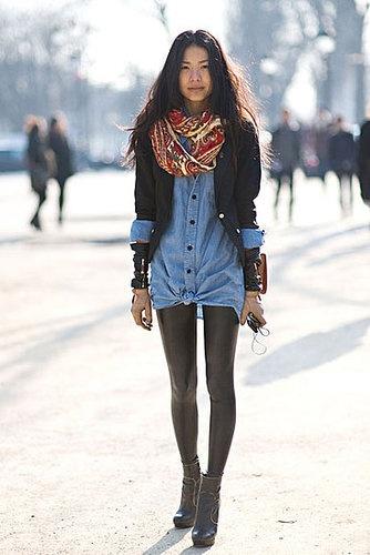Cómo combinar leggins de cuero - Tendencias de moda