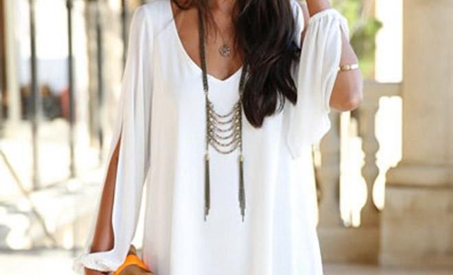 Con que puedo combinar un vestido blanco