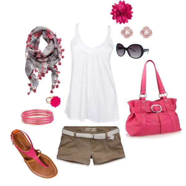 Cómo combinar un look para el verano - Look rosa