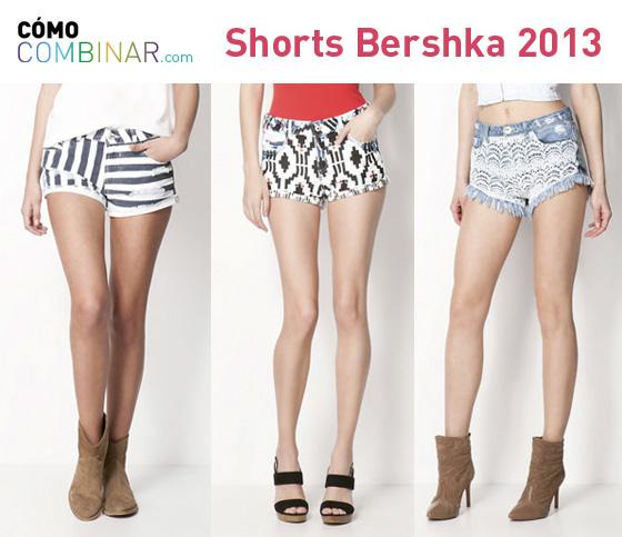 Cómo Combinar shorts - Bershka 2013