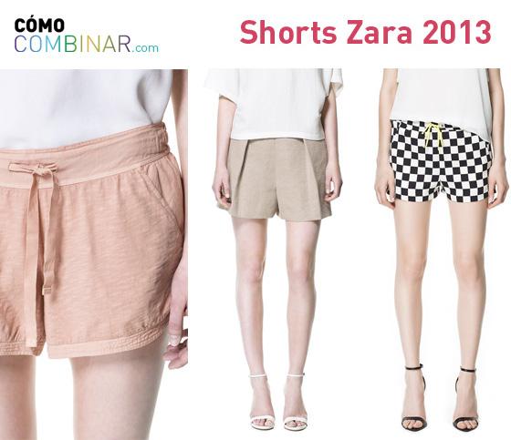 Cómo Combinar shorts - Zara 2013