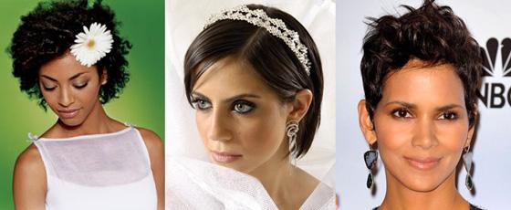 Peinados para bodas - Pelo corto