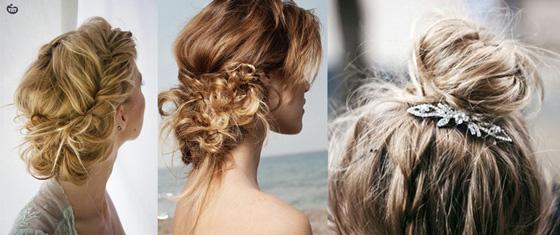 Peinados para bodas - Recogido despeinado