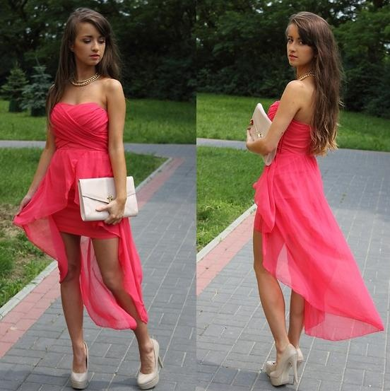 Como combinar vestido asimetrico de fiesta 2