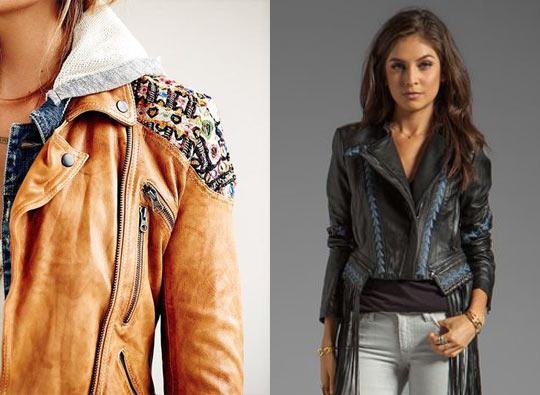 Como elegir una chaqueta de cuero mujer