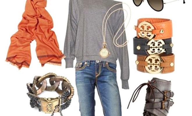 408d0989931a Cómo combinar la ropa en otoño? El color naranja