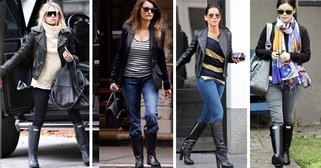 Celebrities con botas de agua