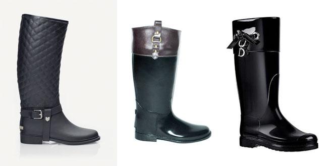 Cómo Combinar botas de agua negras