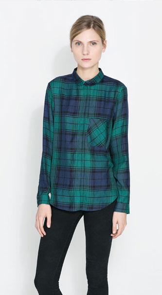 Cómo combinar camisa de cuadros - tendencias 2013