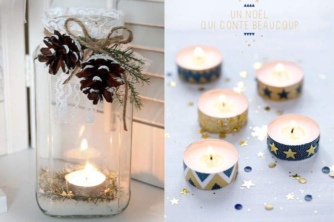 Decoracion x navidad for Decorar jarrones con velas