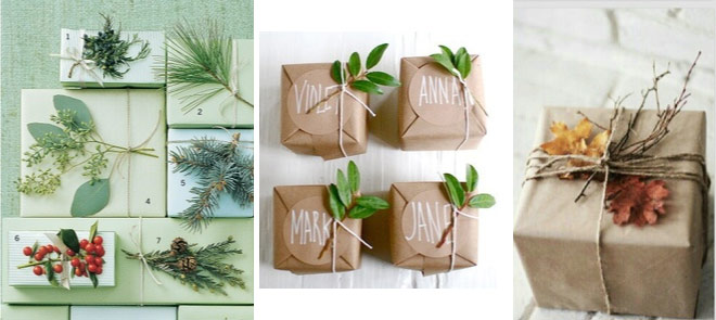Como envolver regalos de forma original - Natural