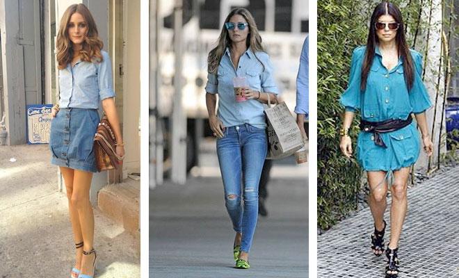 Cómo combinar camisa vaquera - Total jeans look