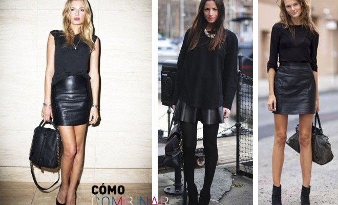 comprar mejor calidad de marca bien fuera x Cómo combinar una falda de cuero
