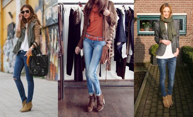 Cómo combinar botines con jeans