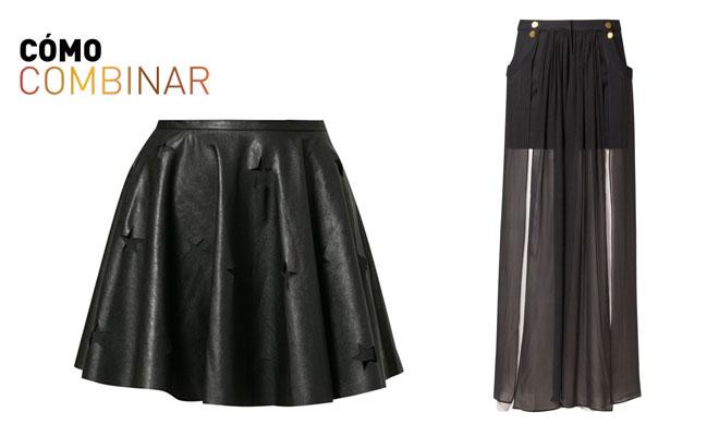 Cómo combinar faldas