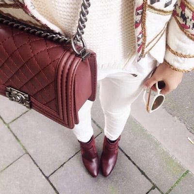 Zapatos Burdeos
