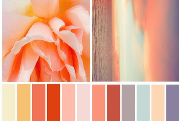C mo combinar el color coral - Que colores combinan con el lila ...