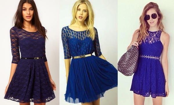 Imagenes de como combinar un vestido azul rey