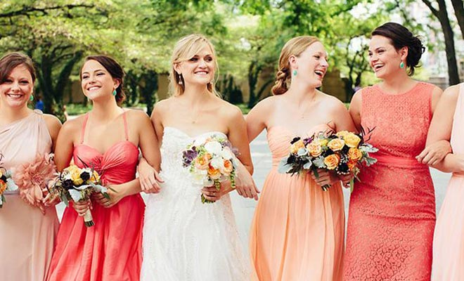 Color coral en bodas