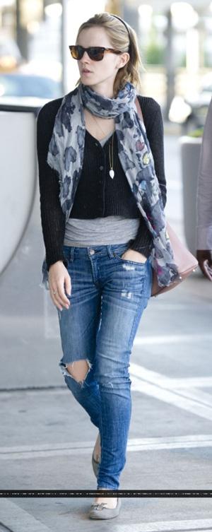 Celebrities Street Style - Emma Watson