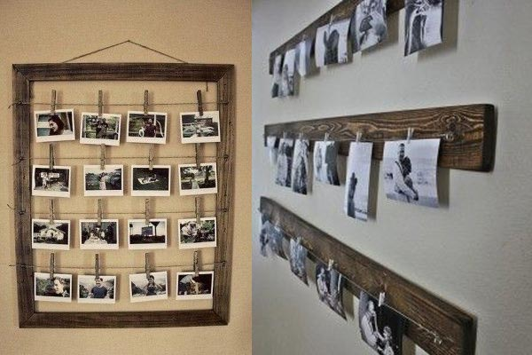 Decorar tu casa con fotos ideas sencillas y divertidas - Marcos de fotos para colgar ...