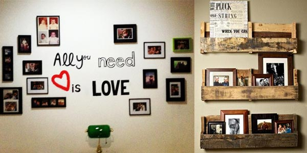 Decorar tu casa con fotos ideas sencillas y divertidas - Collage de fotos para pared ...