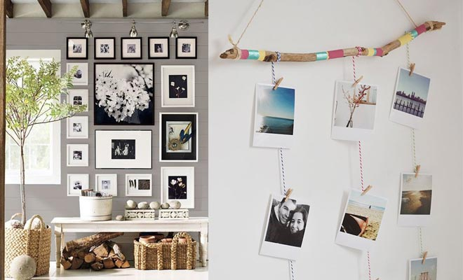 Decorar tu casa con fotos ideas sencillas y divertidas - Como decorar pared con fotos ...