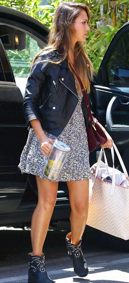Celebrities Street Style - Jessica Alba