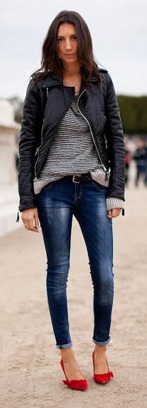 Street Style - Jeans y cuero