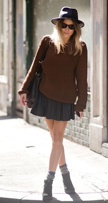 Street Style - Negro y marrón combinados