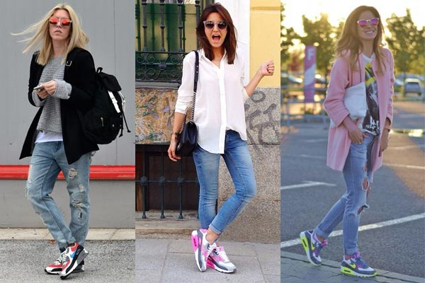 nike air max con jeans mujer