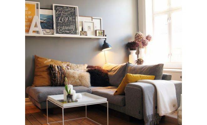 Un sal n en tonos grises y amarillos dise o interior - Diseno salon comedor ...