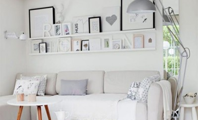 Inspiración salón-comedor blanco - Diseño interior