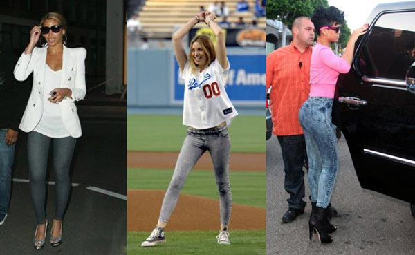 Celebrities con leggins