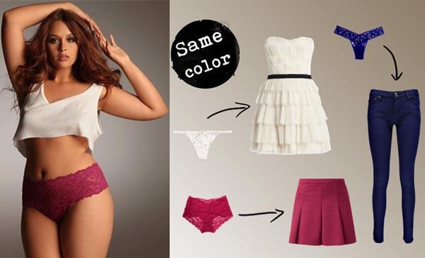 Combinar ropa interior