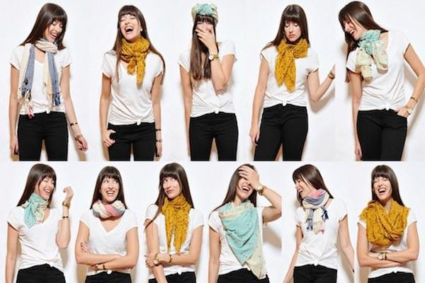 cómo combinar pañuelos y bufandas