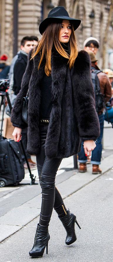 Street Style - Abrigo De Piel Ideal Para Du00edas Fru00edos