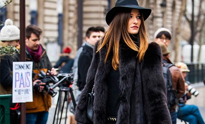 Street Style - Abrigo de piel