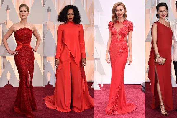 Vestidos rojos en la alfombra roja